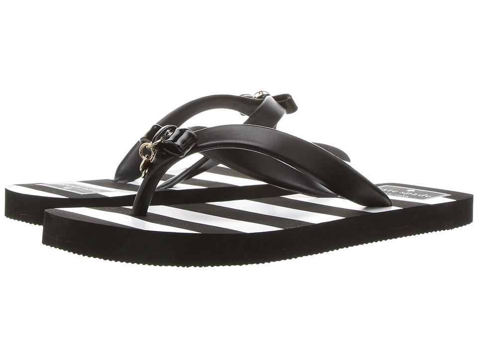 Kate Spade New York - Fifi (Black Rubber/Stripe Print) Women's Sandals