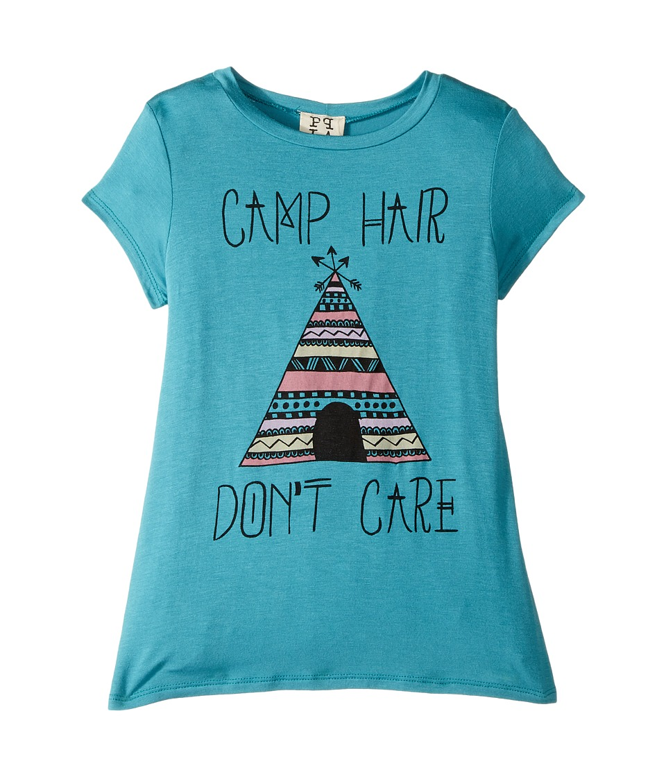 People's Project LA Kids - Camp Hair Knit Tee (Big Kids) (Jade) Girl's T Shirt