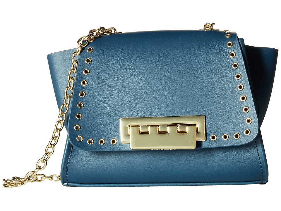 ZAC Zac Posen - Eartha Iconic Micro Grommet Mini Chain Crossbody (Jean) Cross Body Handbags