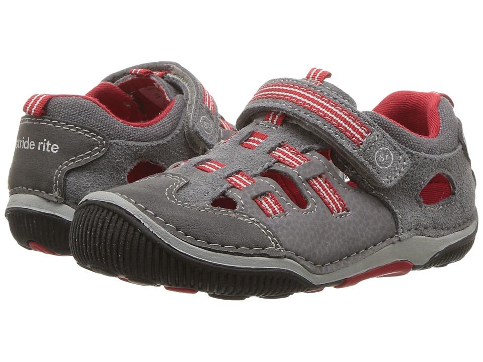 Stride Rite SRT Reggie (Toddler) (Grey/Red) Boys Shoes