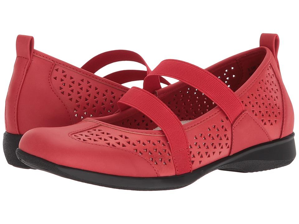 Trotters Josie (Red Embossed Leather) Women
