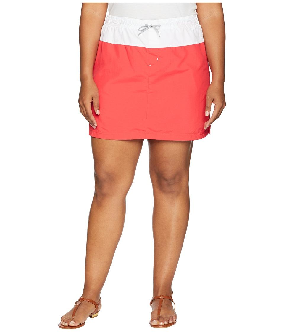 Columbia Plus Size Sandy River Skort (Red Camellia/White/Columbia Grey) Women
