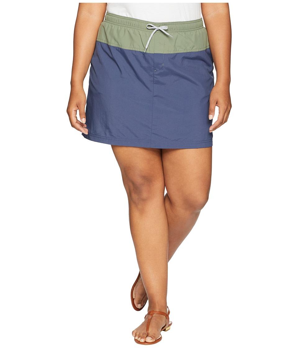 Columbia Plus Size Sandy River Skort (Nocturnal/Cypress/Columbia Grey) Women