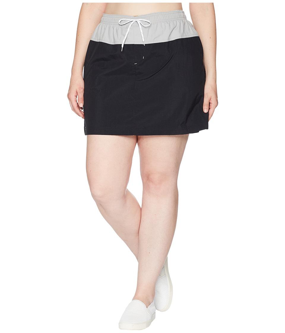 Columbia Plus Size Sandy River Skort (Black/Columbia Grey/White) Women