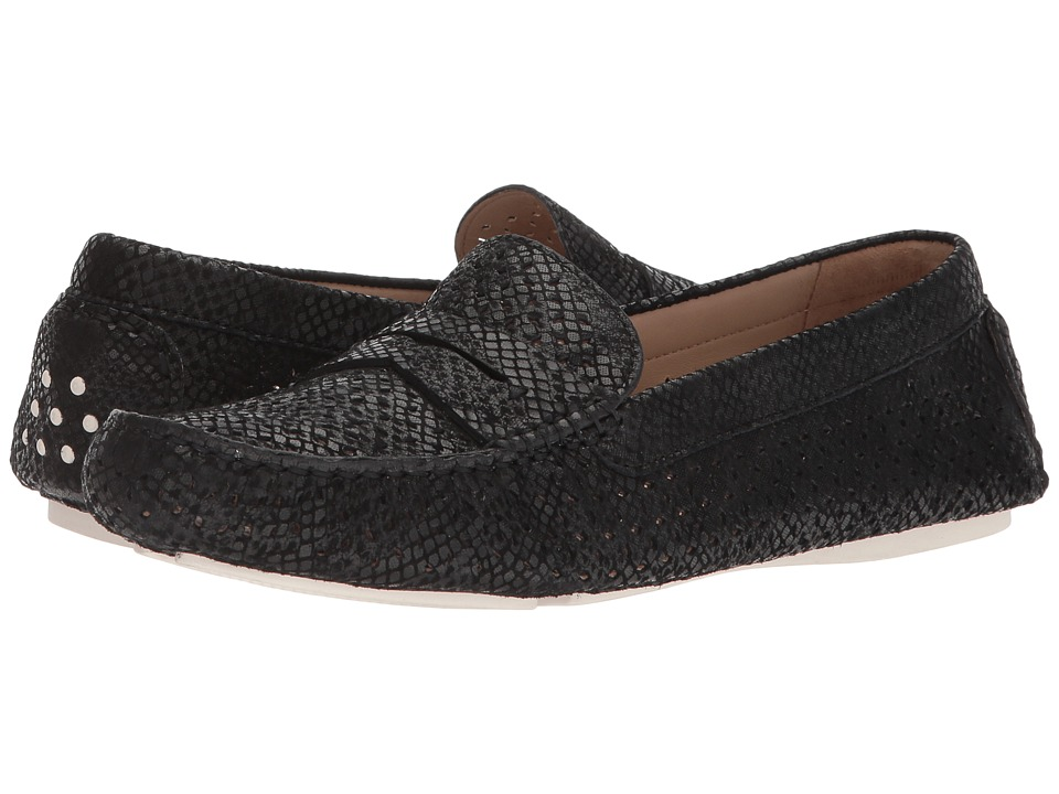 Johnston & Murphy Maggie Perfed Penny (Black Snake Print Leather) Women