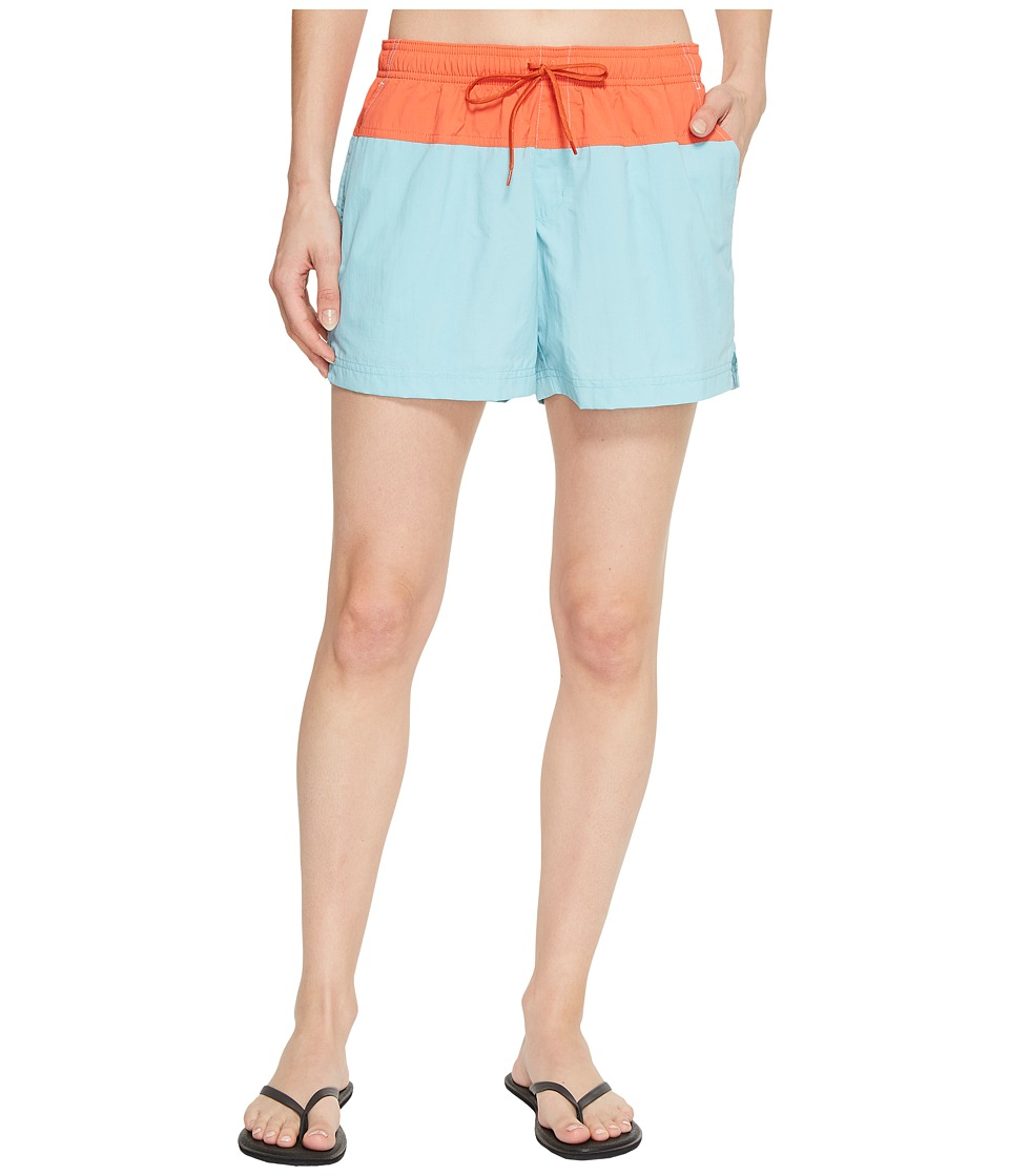 Columbia Sandy Rivertm Color Blocked Shorts (Iceberg/Zing/Tuscan) Women