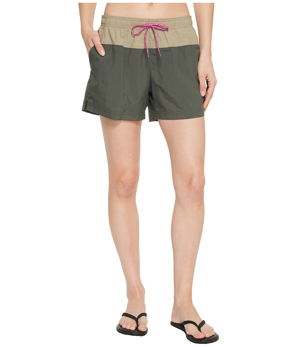 Columbia Sandy Rivertm Color Blocked Shorts (Gravel/Tusk/Bright Lavender) Women