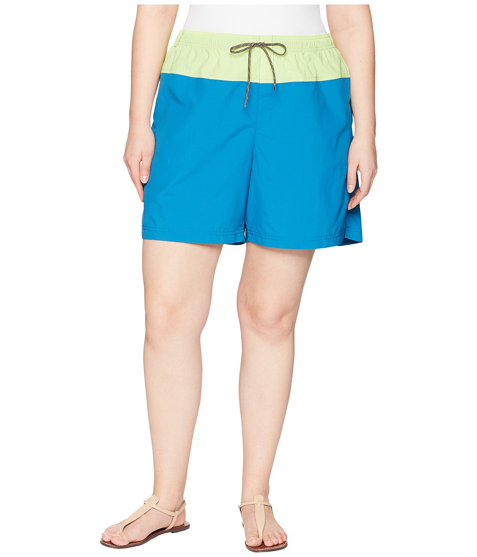 Columbia Plus Size Sandy Rivertm Color Blocked Shorts (Jewel/Neon Light/Mineshaft) Women
