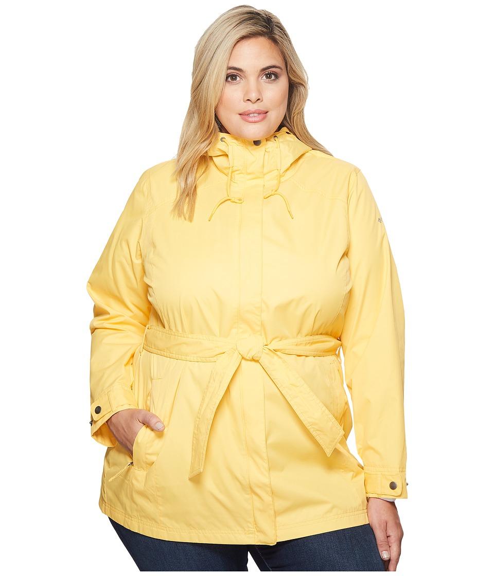 Columbia Plus Size Pardon My Trenchtm Rain Jacket (Yellow Ray/Cirrus Grey) Women