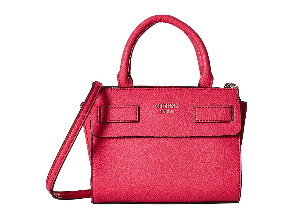 GUESS - Cate Mini Satchel (Fuchsia) Satchel Handbags