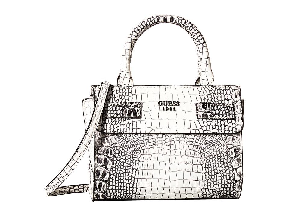 GUESS - Cate Petite Satchel (Natural) Satchel Handbags