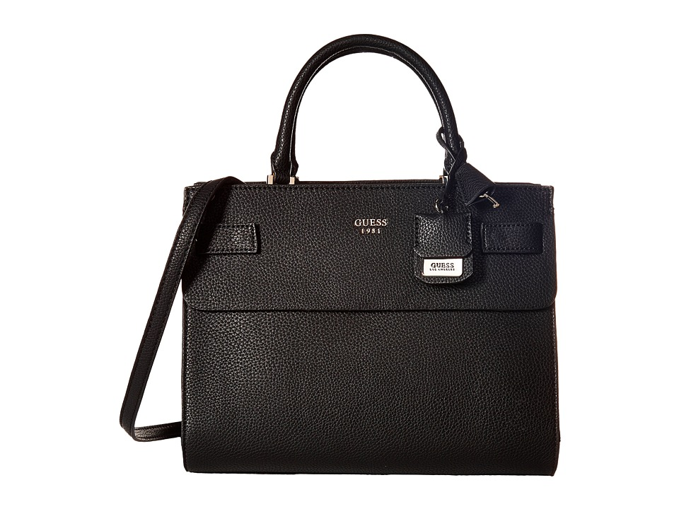 GUESS - Cate Satchel (Black 1) Satchel Handbags