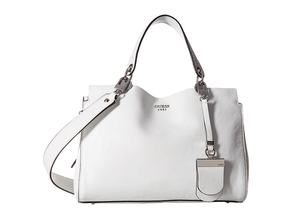 GUESS - Andie Girlfriend Satchel (White) Satchel Handbags