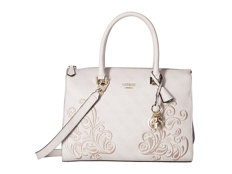 GUESS - Arianna Box Satchel (Cement) Satchel Handbags