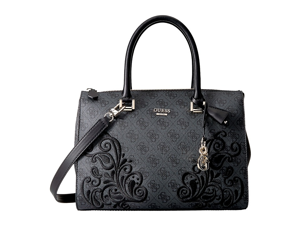 GUESS - Arianna Box Satchel (Coal) Satchel Handbags