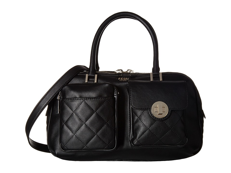 GUESS - Wilson Box Satchel (Black) Satchel Handbags
