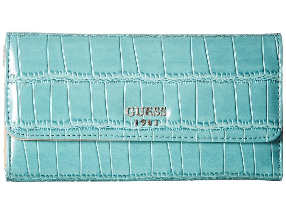 GUESS - Cate Multi Clutch (Petrol) Clutch Handbags