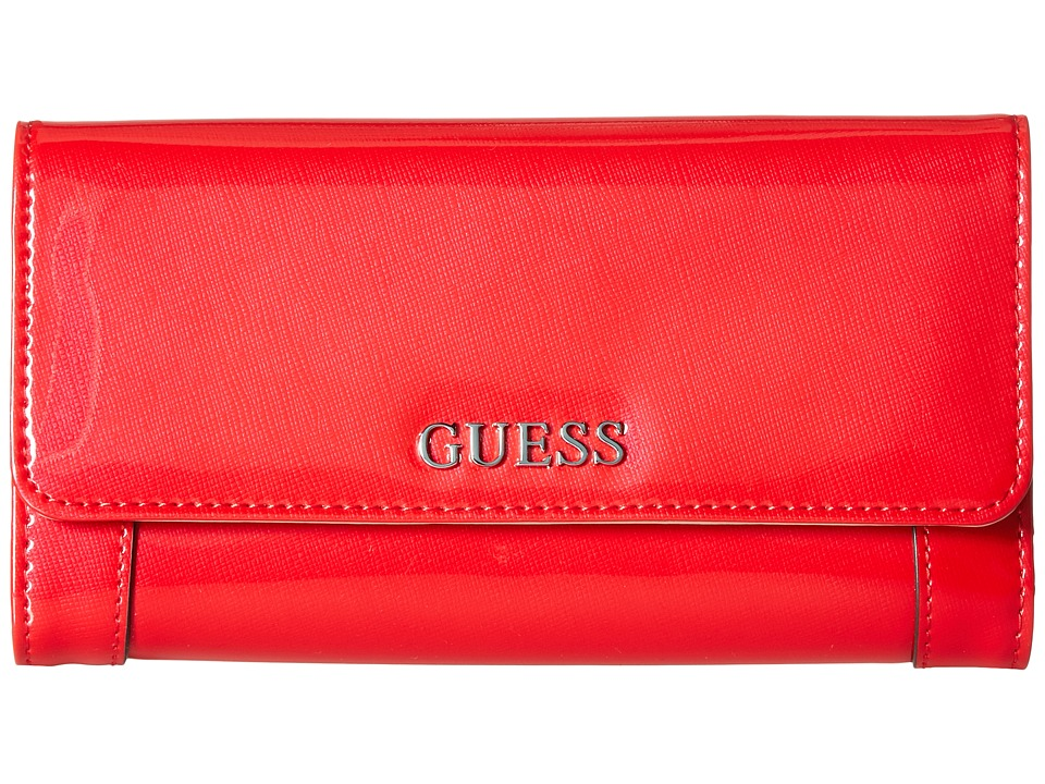GUESS - Delaney Multi Clutch (Red) Clutch Handbags