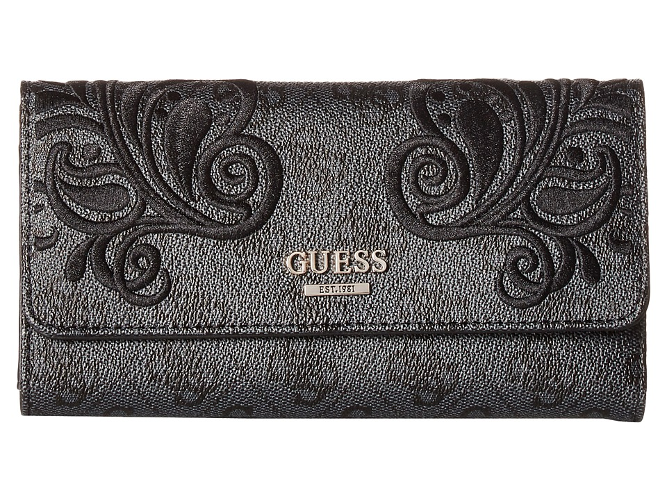 GUESS - Arianna Multi Clutch (Coal) Clutch Handbags