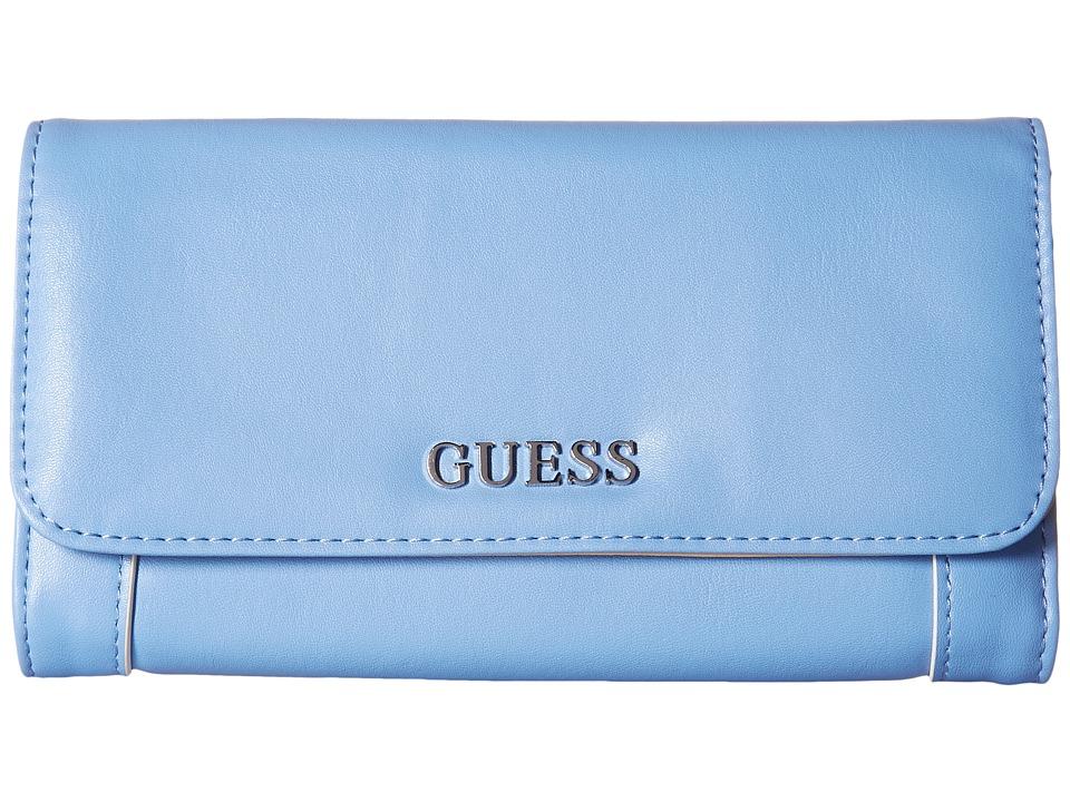 GUESS Delaney Multi Clutch (Blueberry) Clutch Handbags