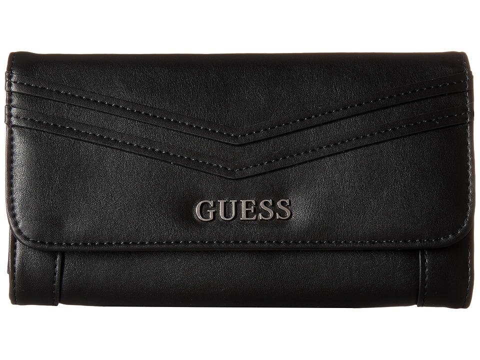 GUESS - Delaney Multi Clutch (Black) Clutch Handbags