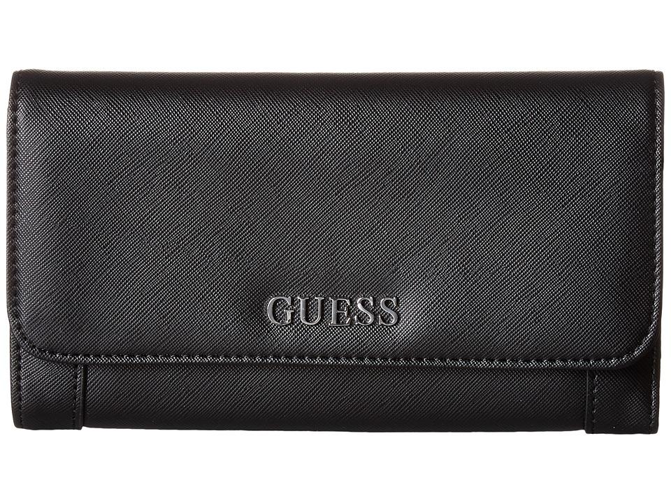 GUESS Delaney Multi Clutch (Black) Clutch Handbags