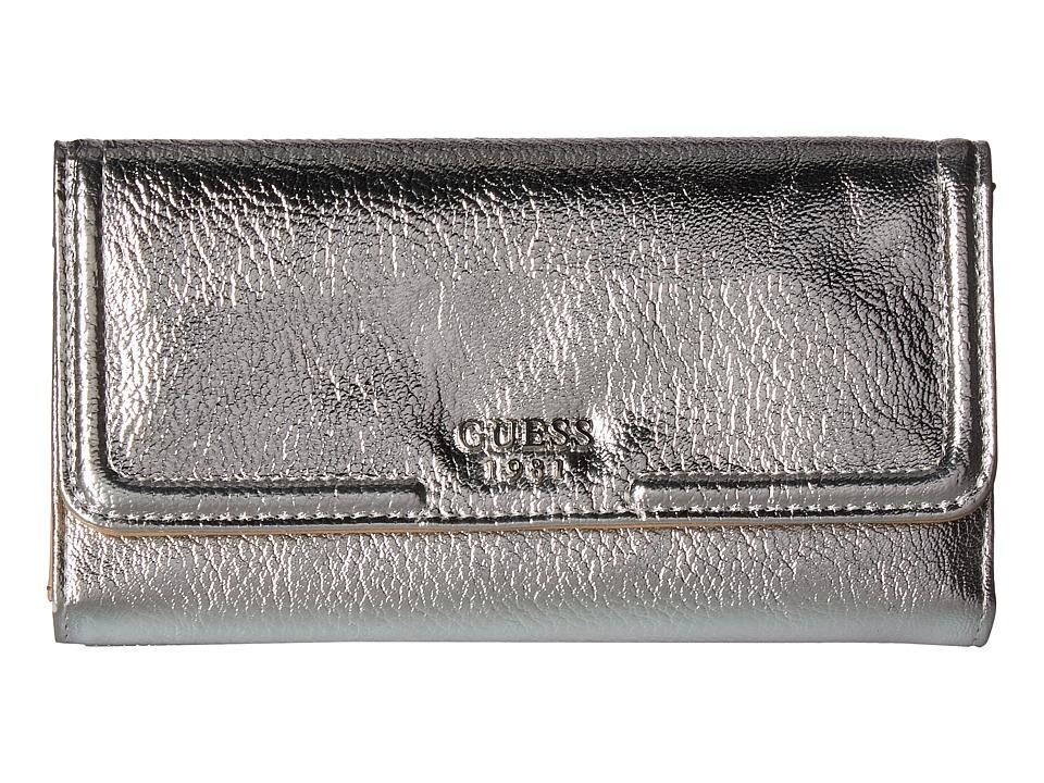GUESS Andie Multi Clutch (Silver) Clutch Handbags