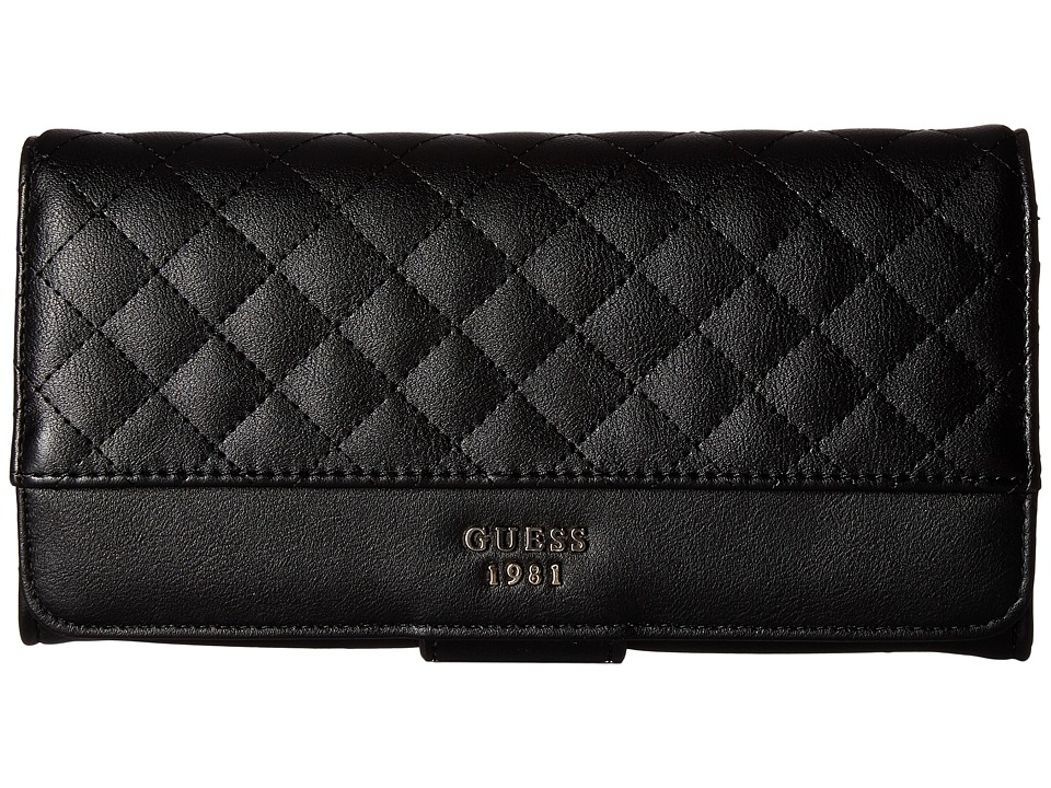 GUESS - Wilson File Clutch (Black) Clutch Handbags