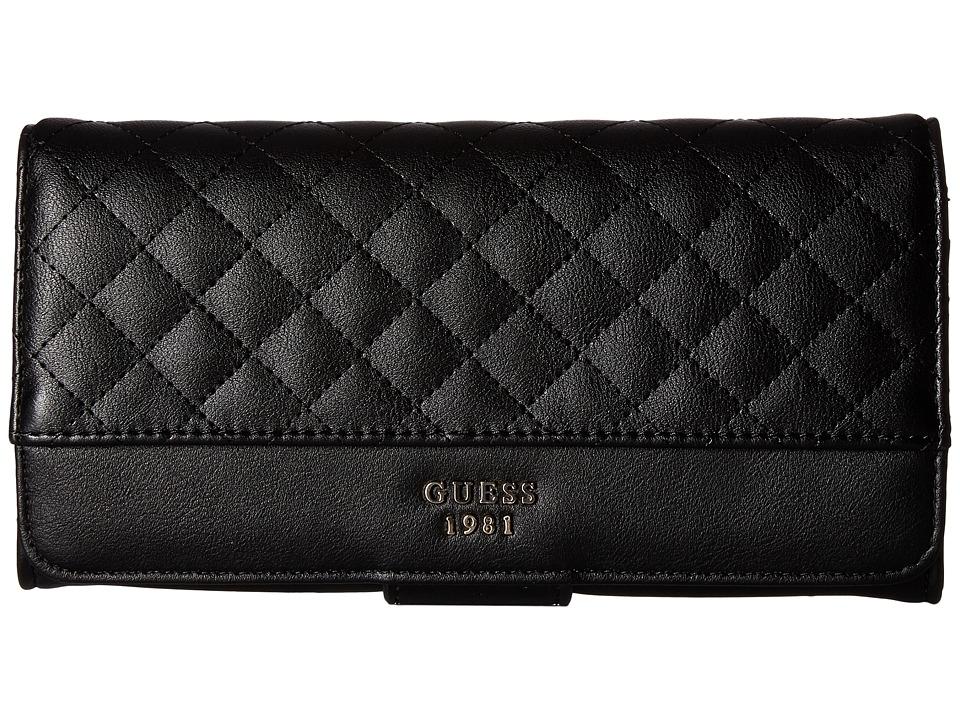 GUESS - Wilson File Clutch (Black) Clutch Handbags