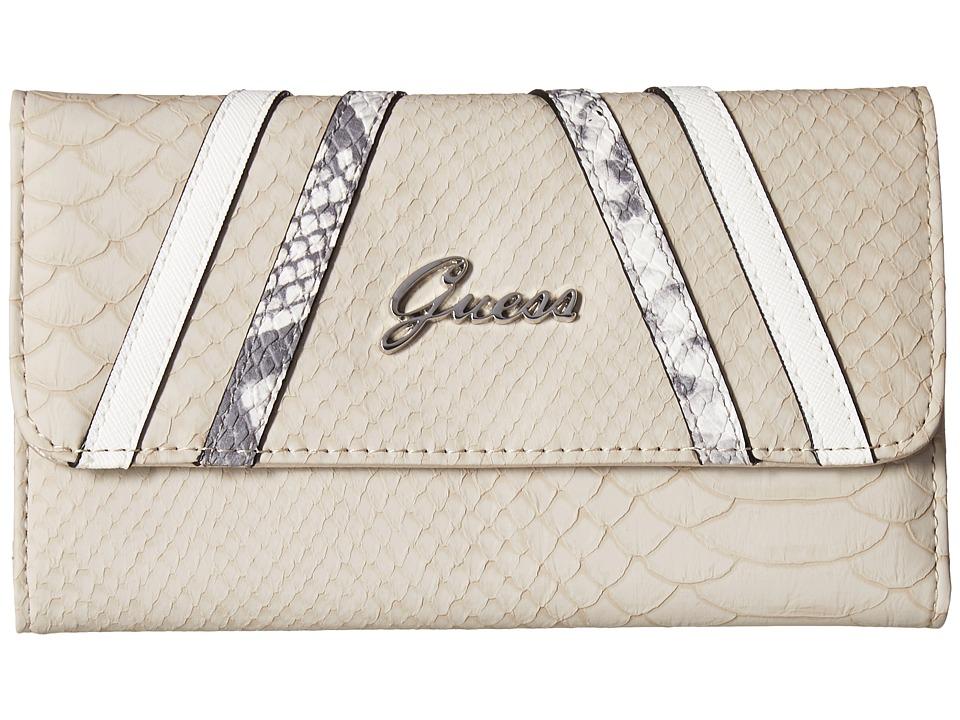 GUESS - Alton Flap Clutch (Stone Multi) Clutch Handbags