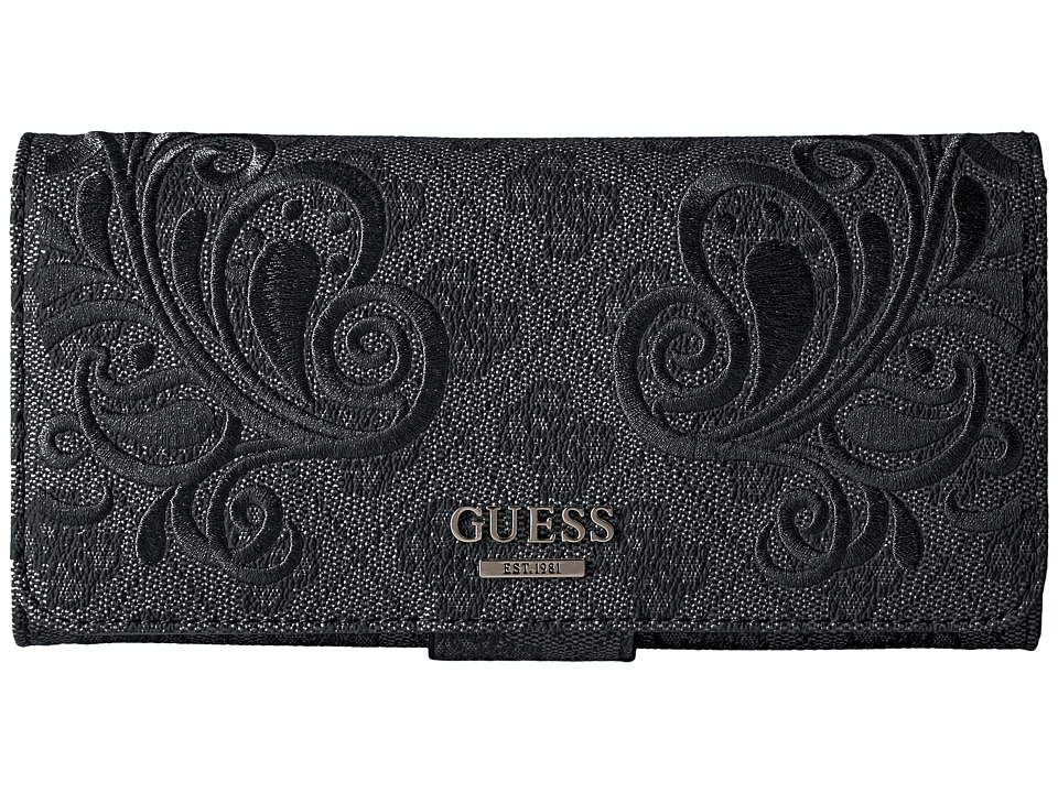 GUESS - Arianna File Clutch (Coal) Clutch Handbags