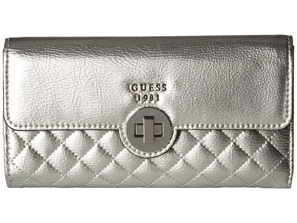 GUESS - Wilson Multi Clutch (Silver) Clutch Handbags
