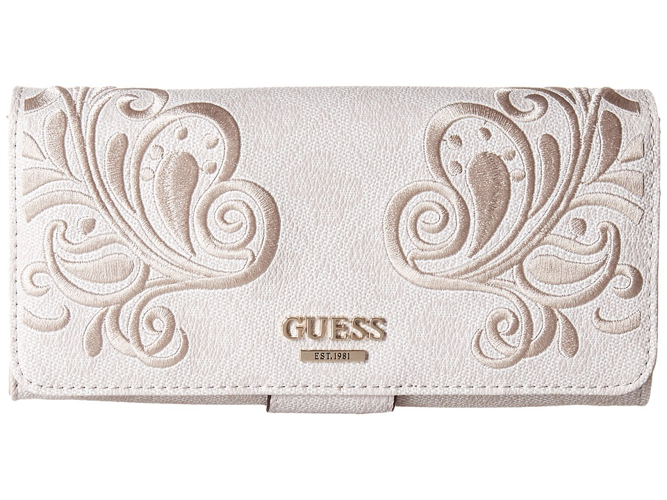 GUESS - Arianna File Clutch (Cement) Clutch Handbags