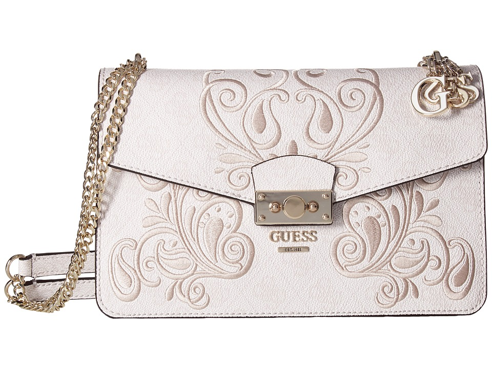 GUESS - Arianna Convertible Crossbody Flap (Cement) Cross Body Handbags