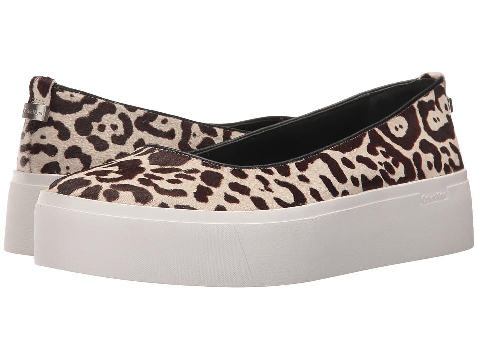 Calvin Klein Janie (Black/White Winter Leopard Haircalf) Women