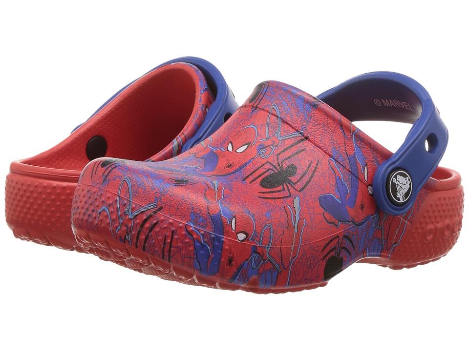 Crocs Kids Fun Lab Spiderman Graphic Clog (Toddler/Little Kid) (Flame) Boys Shoes