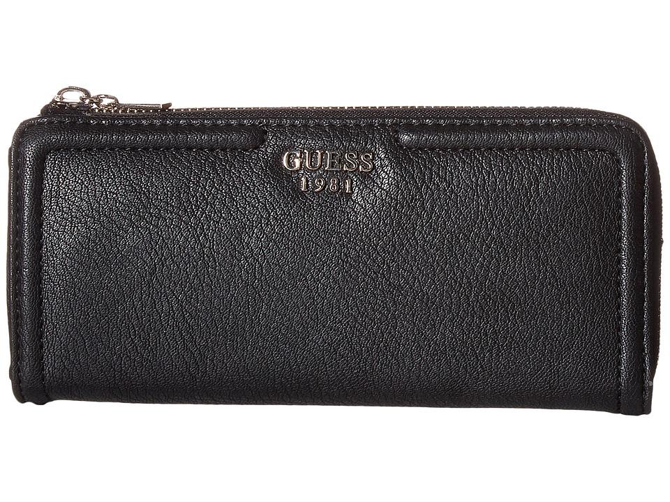 GUESS - Andie Slim Zip Wallet (Black) Wallet Handbags