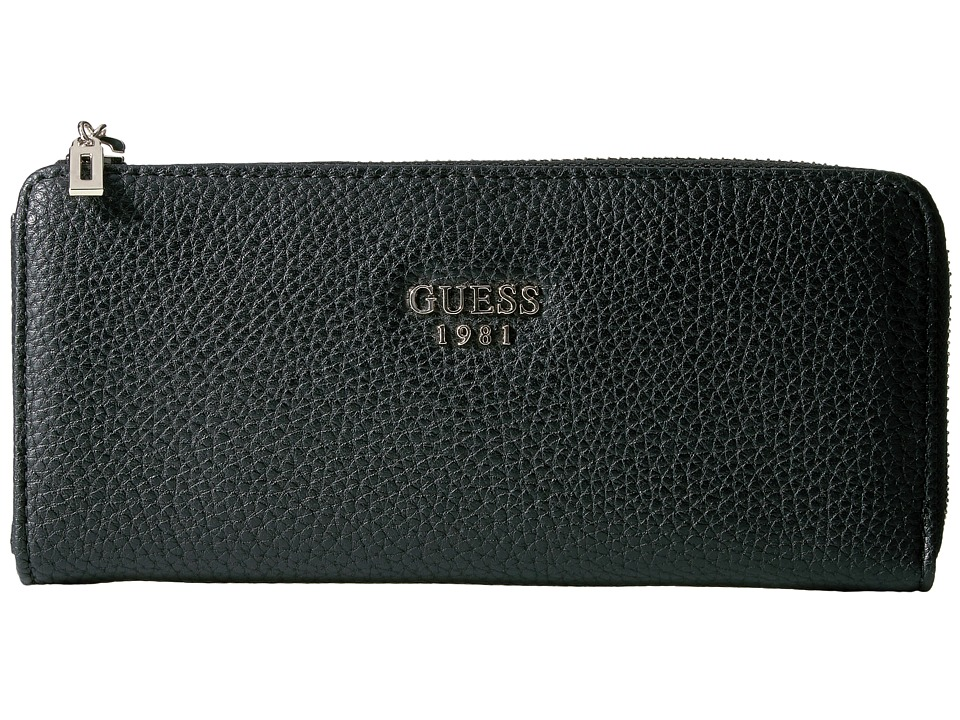 GUESS - Cate SLG Slim Zip Wallet (Black) Wallet Handbags