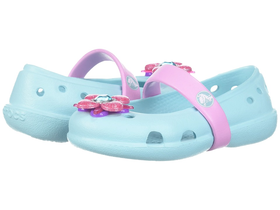 f1de9f754 Crocs Kids - Keeley Springtime Flat (Toddler Little Kid) (Ice Blue) Girls  Shoes