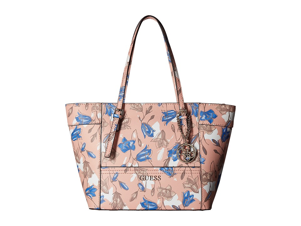 GUESS - Delaney Small Classic Tote (Floral Multi) Tote Handbags