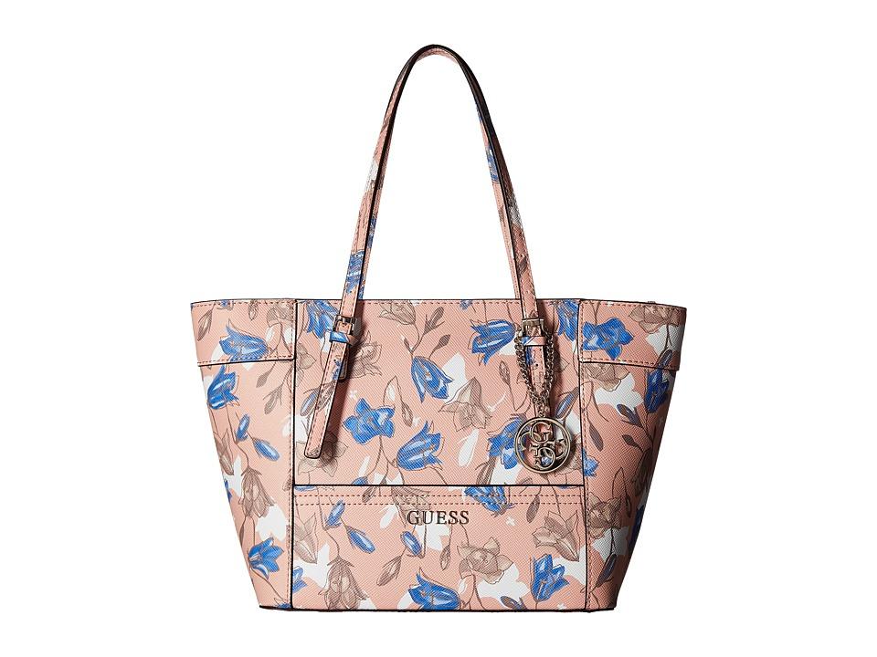 GUESS - Delaney Small Classic Tote (Floral Multi) Tote Handbags