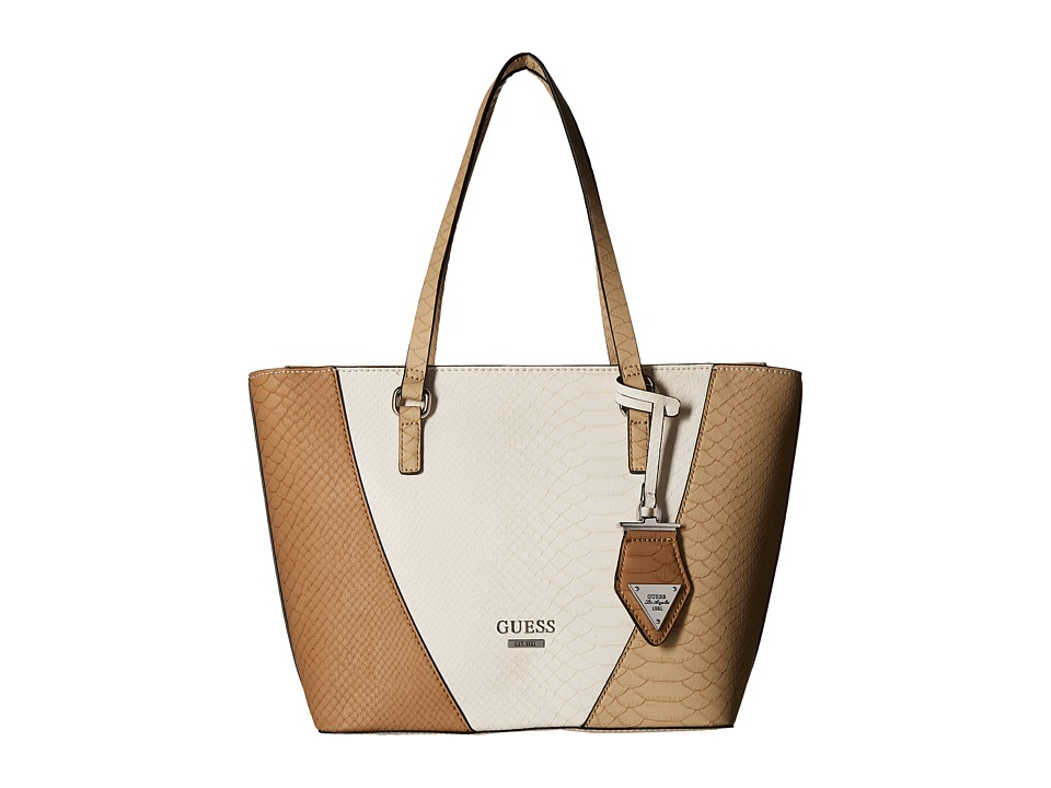 GUESS - Bell Fox Tote (Natural Multi) Tote Handbags