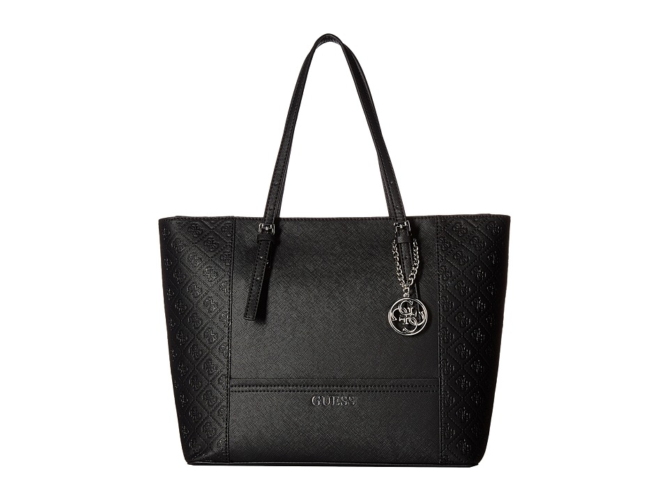 GUESS - Delaney Medium Classic Tote (Black) Tote Handbags