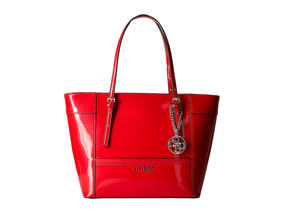 GUESS - Delaney Small Classic Tote (Red) Tote Handbags