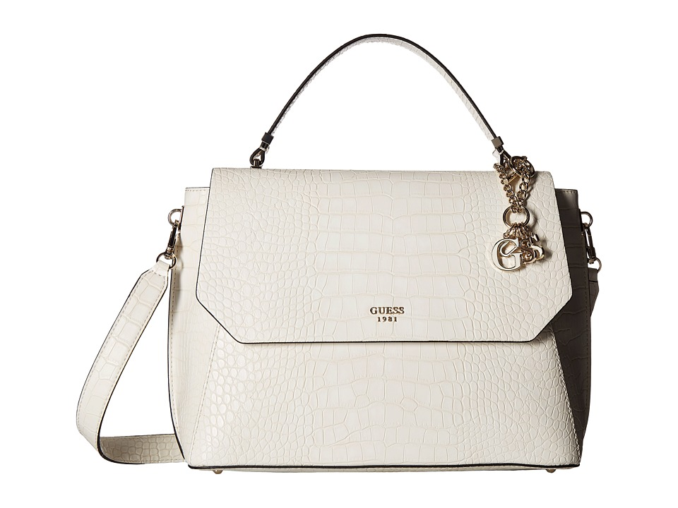 GUESS - Trylee Top-Handle Flap (Stone) Top-handle Handbags