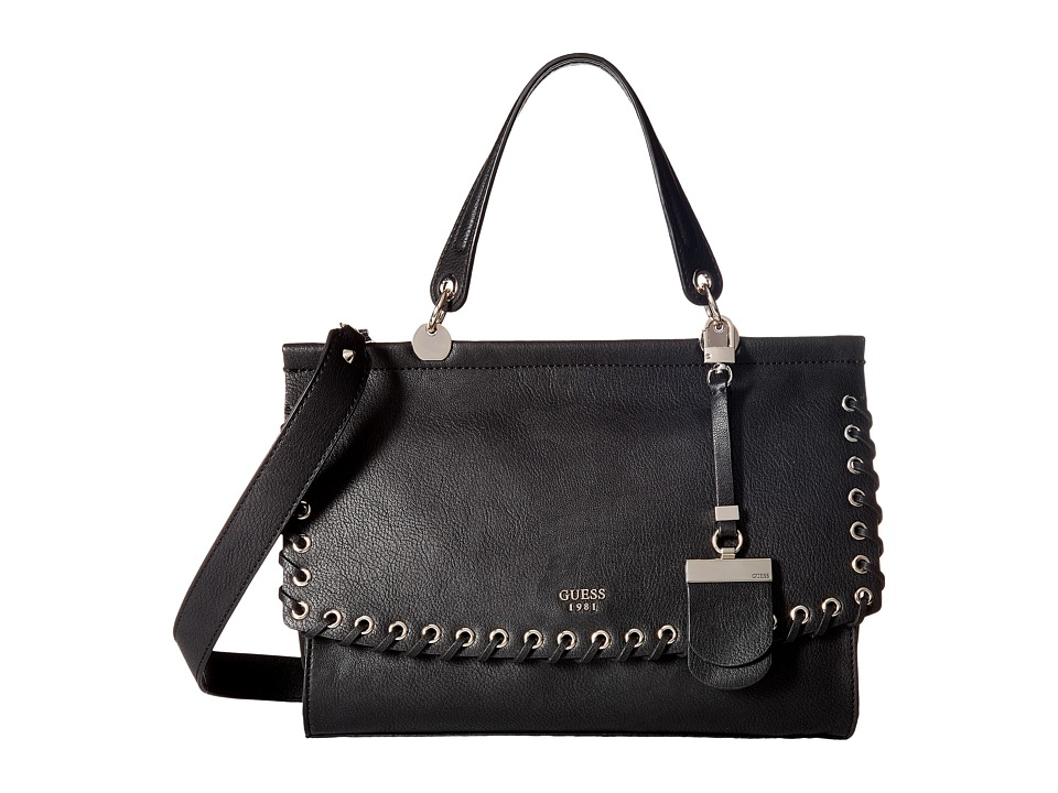 GUESS - Andie Top-Handle Flap (Black) Top-handle Handbags