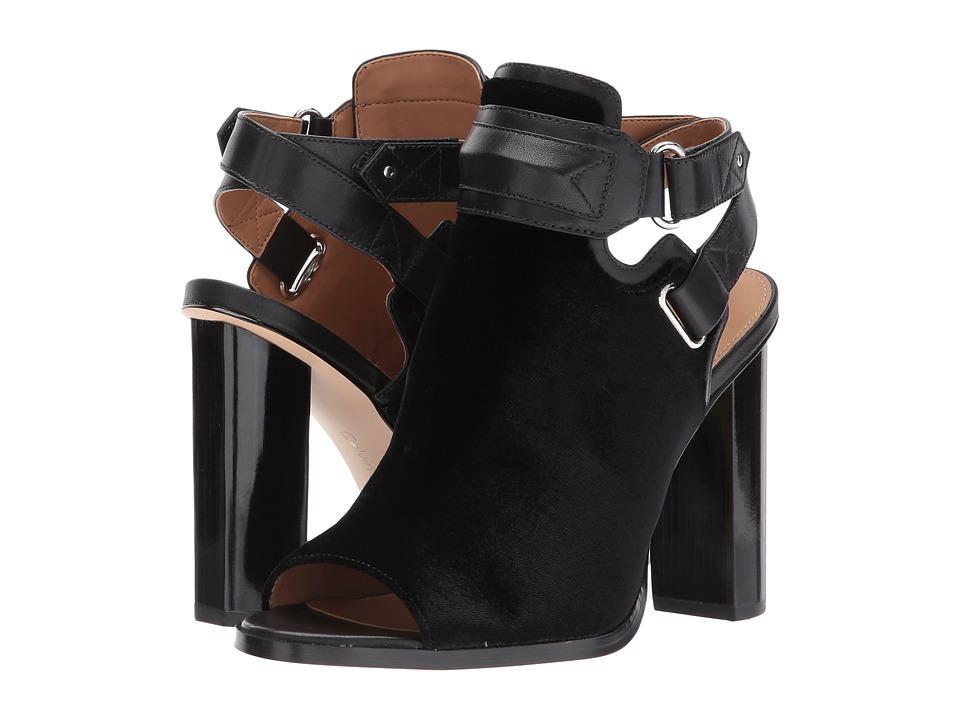 Calvin Klein - Kara (Olive Velvet/Cow Silk) High Heels