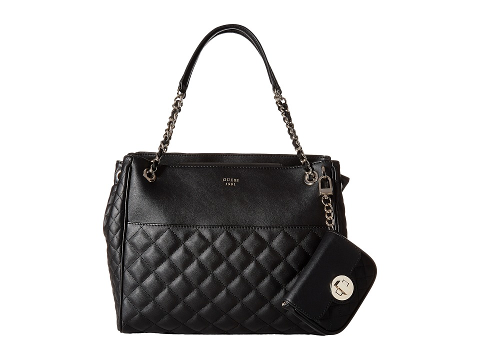 GUESS - Wilson Shopper (Black) Handbags