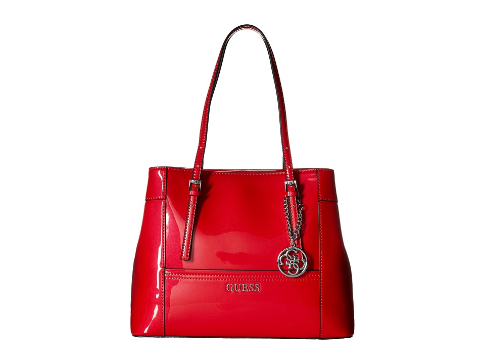 GUESS - Delaney Shopper (Red) Handbags