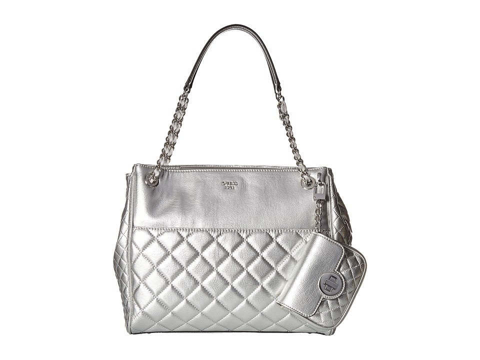 GUESS - Wilson Shopper (Silver) Handbags